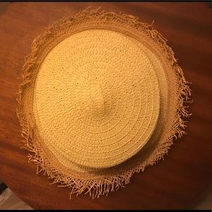 Straw boater style hat